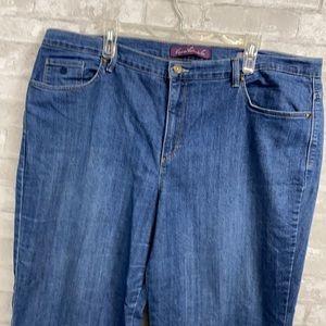 Gloria Vanderbilt Amanda blue denim jean pants